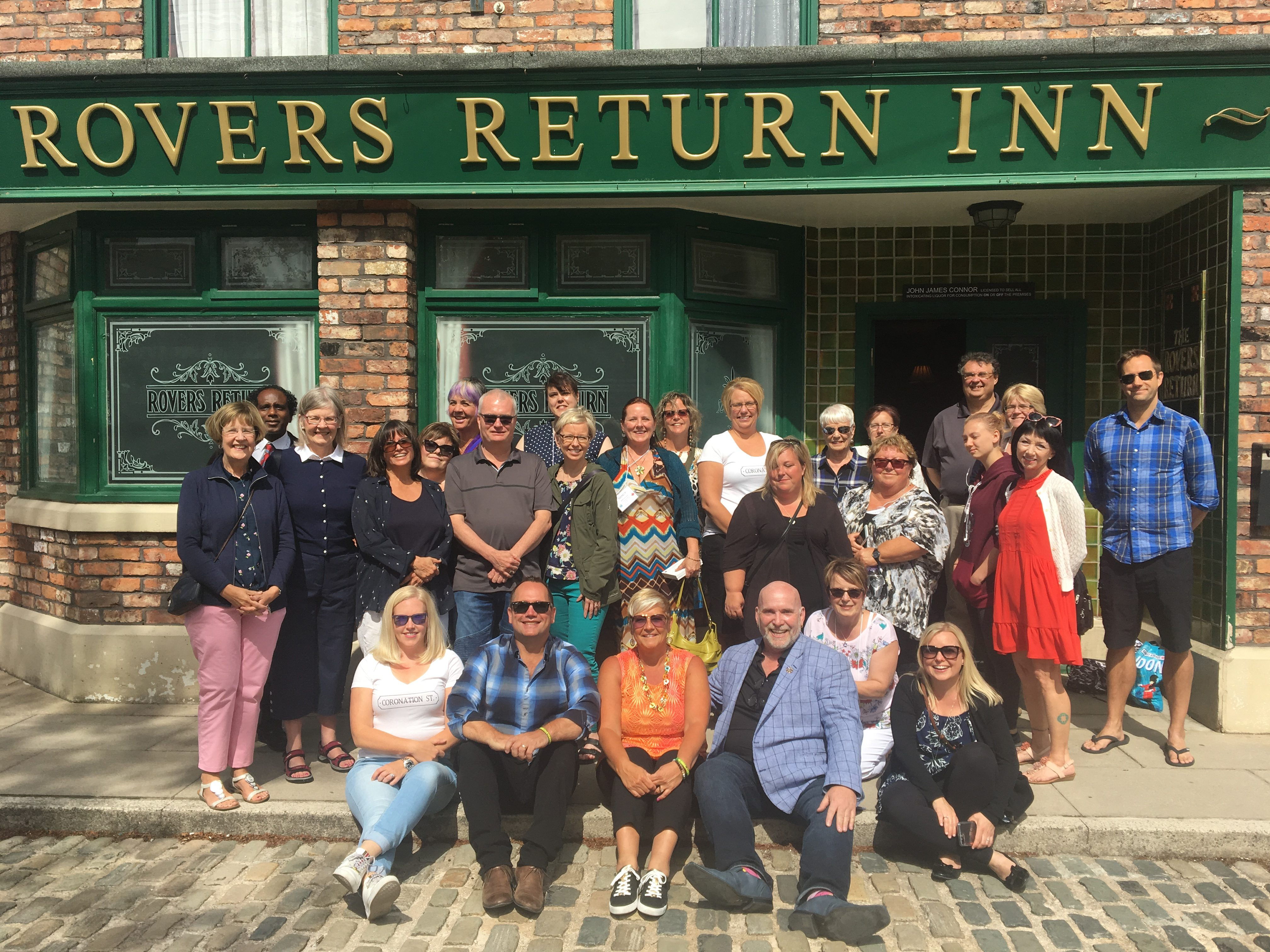 Leader in Group Tours to Coronation Street, 2018 Tour,Corrie